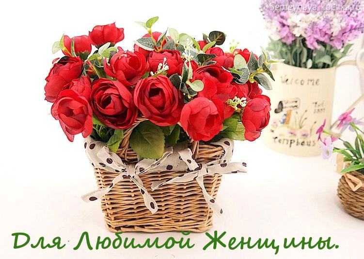 букет роз в корзине картинка