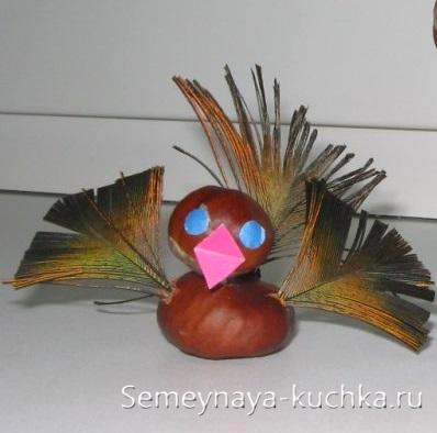 птица поделка из природного материала для детей