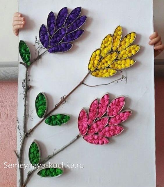 красивые цветы для мамы поделка детская
