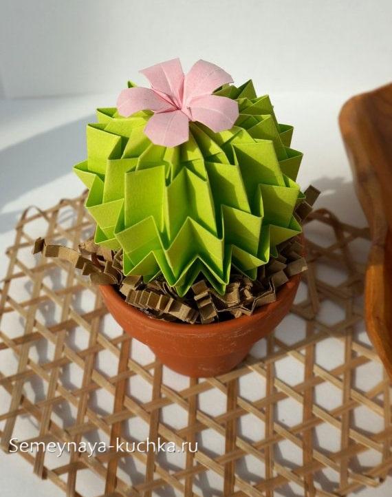 поделка цветы из бумаги кактус
