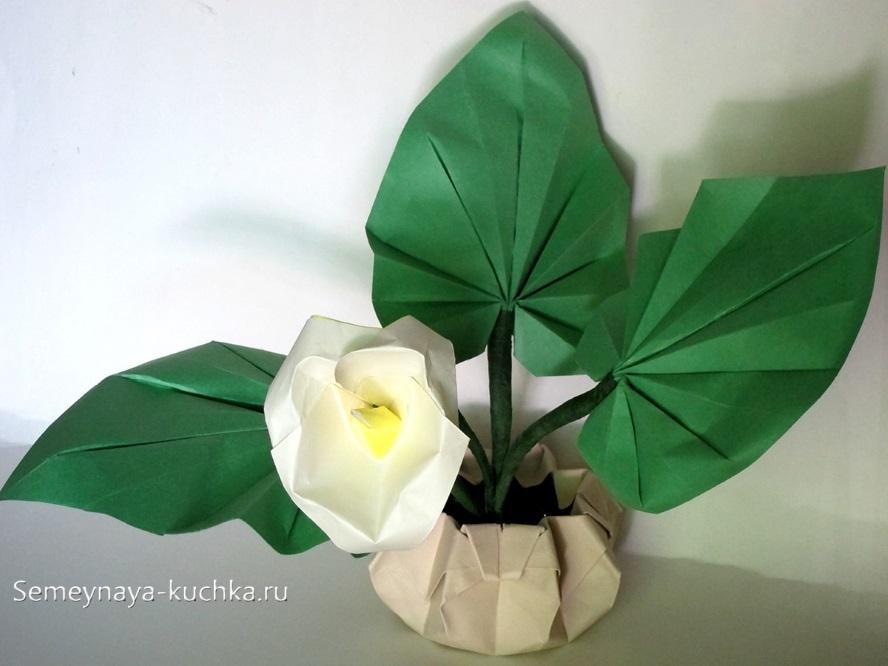 поделка цветы из бумаги оригами