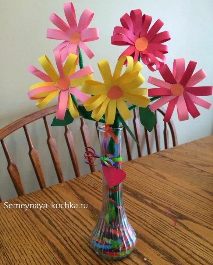 поделка из бумаги цветы для мамы
