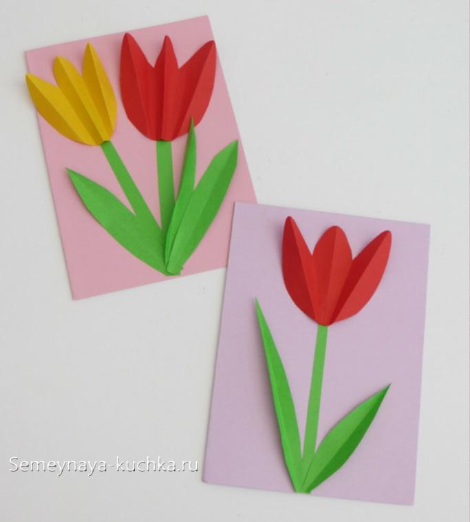 поделка в детском саду цветок для мамы