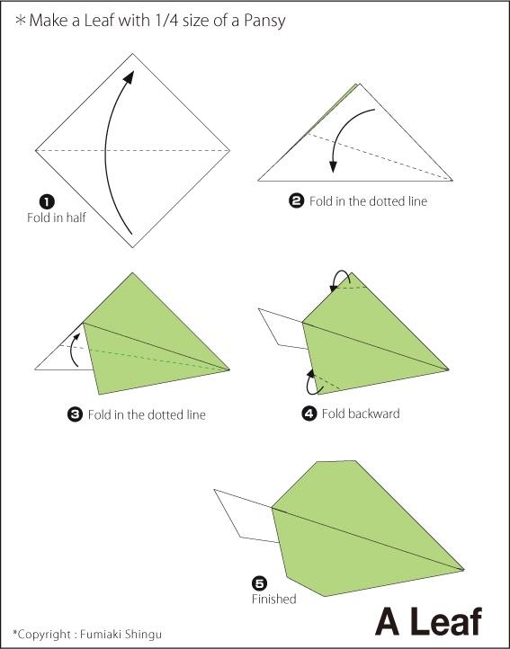 мастер-класс листочки зеленые из бумаги