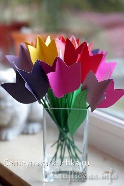 поделка цветы для мамы детская в школе