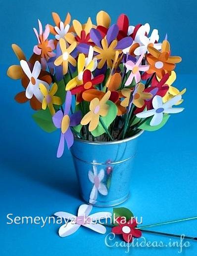поделка цветы для мамы в детском саду