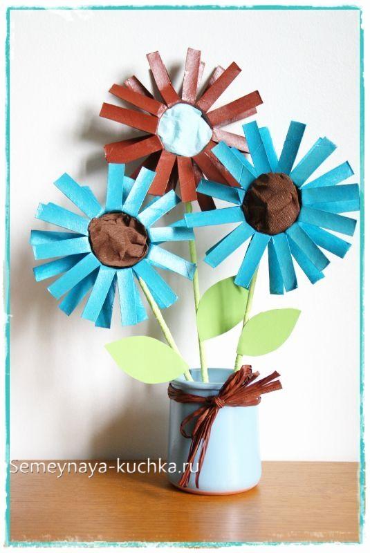 поделка цветы для мамы