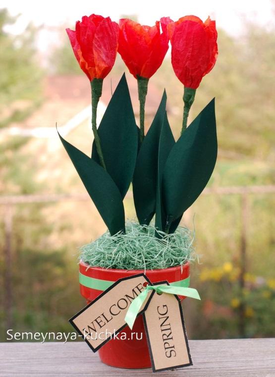 поделка цветы для мамы своими руками из бумаги