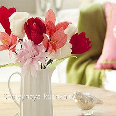 поделка цветы для мамы своими руками