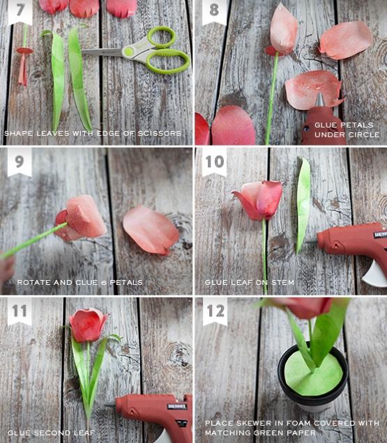 мастер-класс цветы для мамы