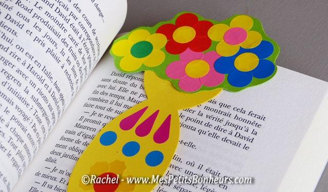 поделка закладка цветы маме