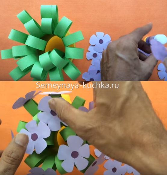 как сделать поделку цветы для мамы