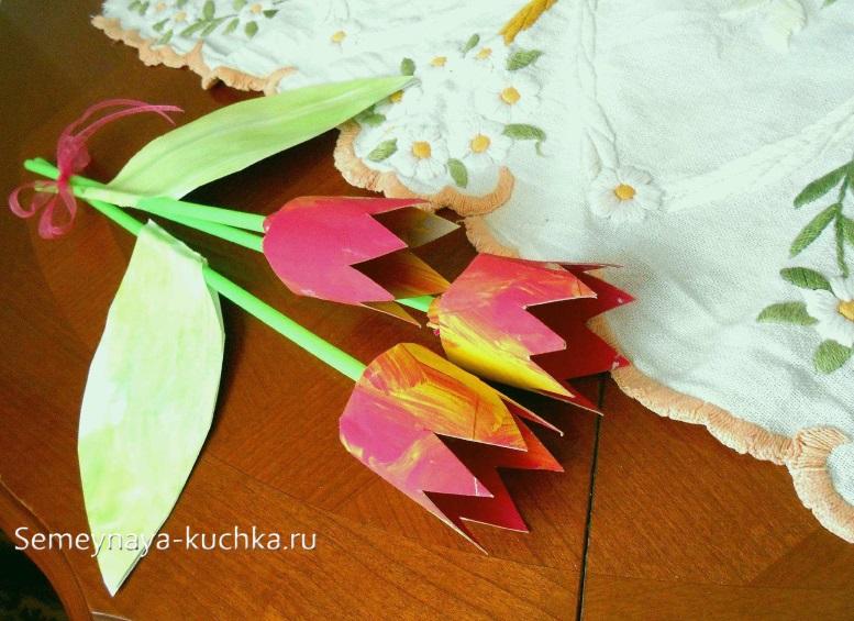 поделка цветы на 8 марта маме