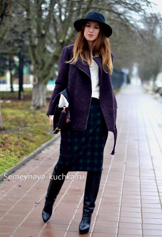 с чем носить короткое пальто
