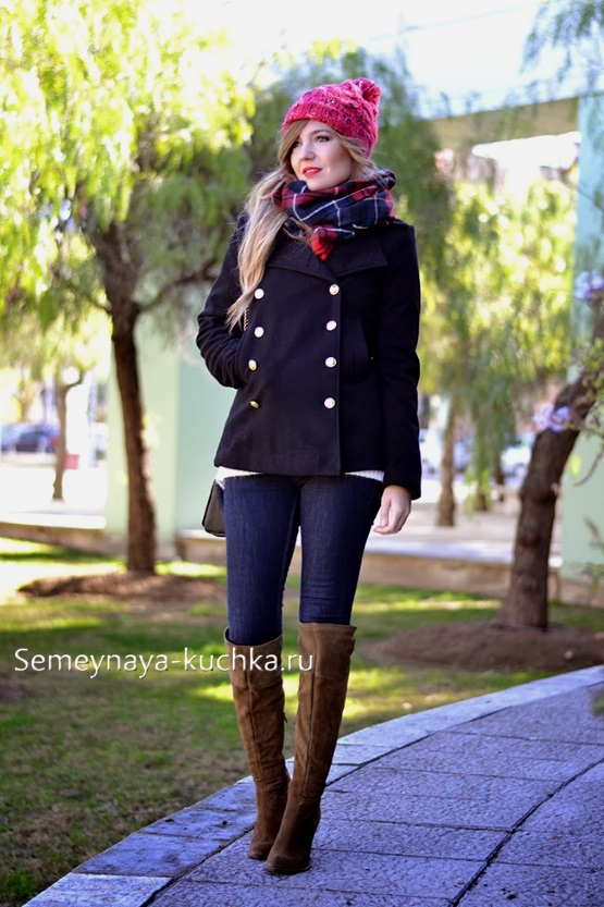красивое короткое пальто