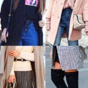 КАК носить ПАЛЬТО с джинсами, юбками, брюками (99 фото)