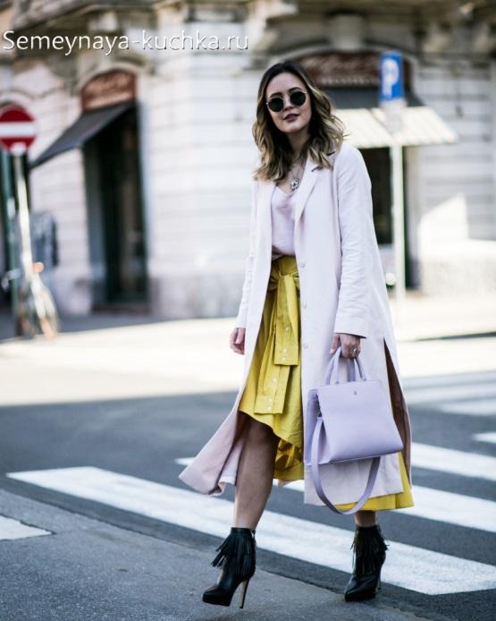 как носить белое пальто