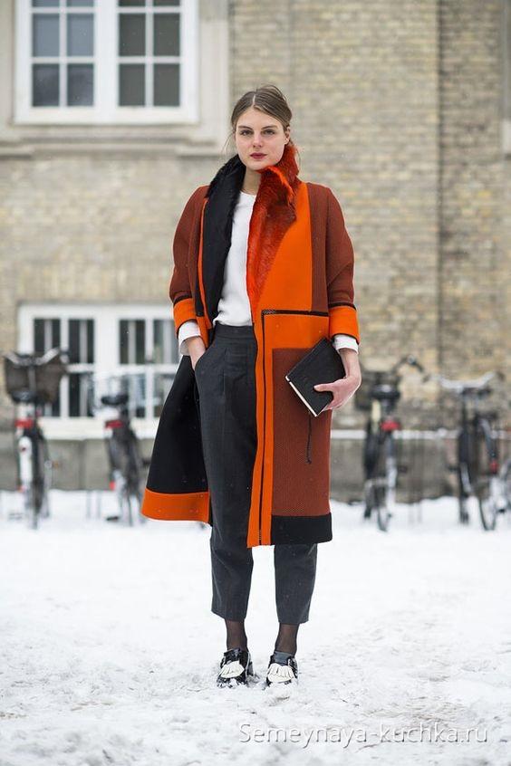 осеннее пальто модный образ