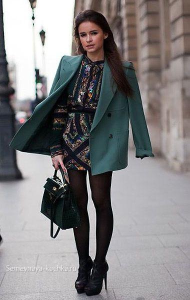 короткое пальто как носить