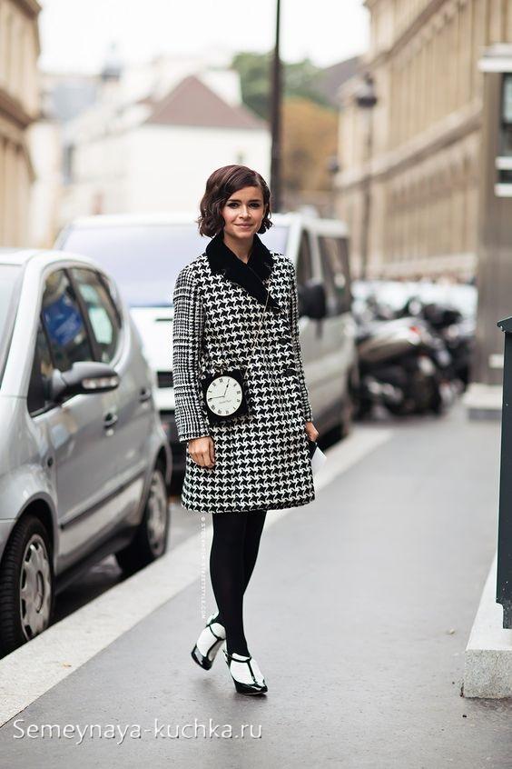 ретро образ с пальто