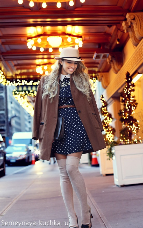 ретро стиль с пальто