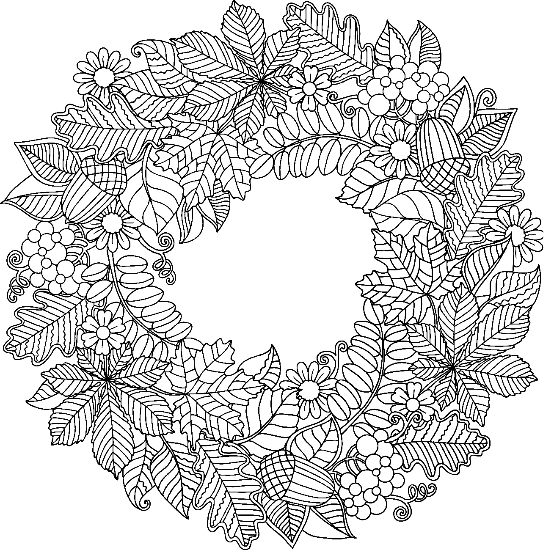 шаблоны листьев красивые