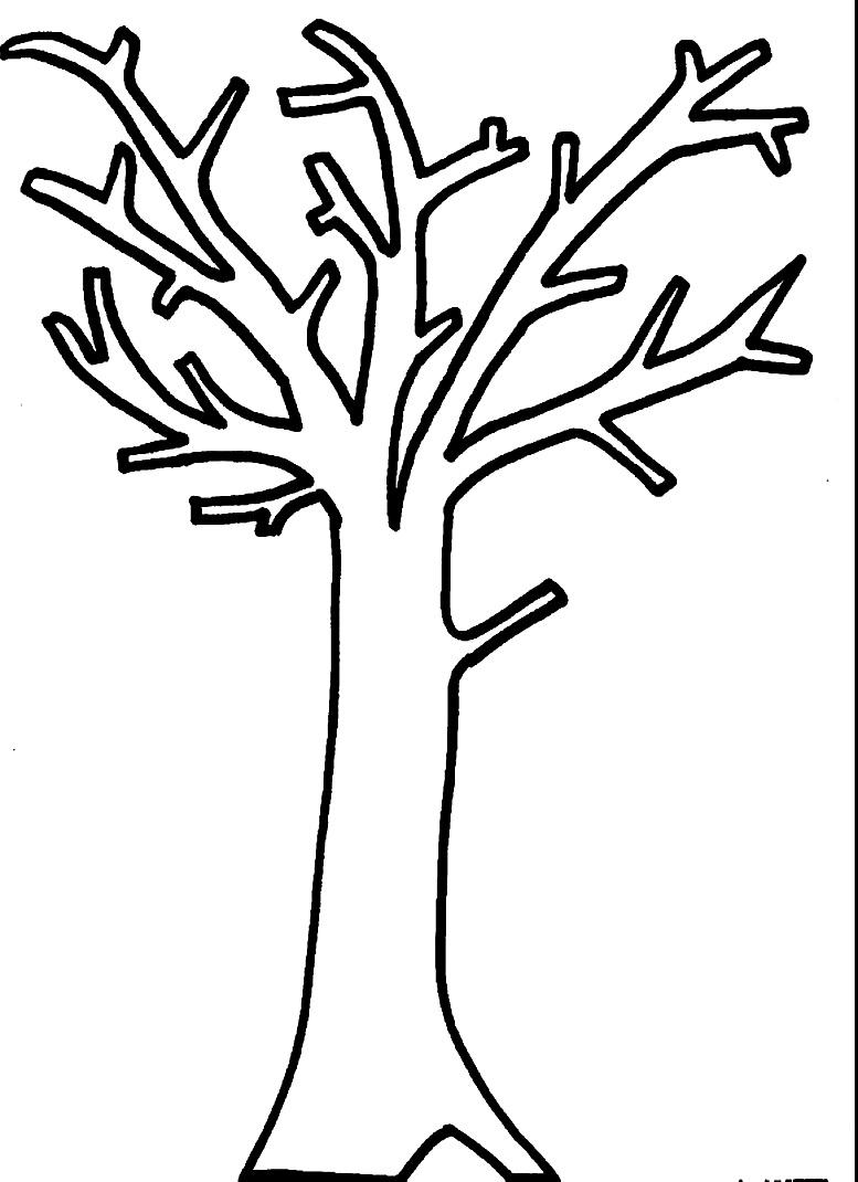 шаблон осеннего дерева без листьев