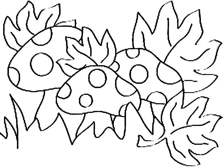 шаблон раскраска осенних листьев