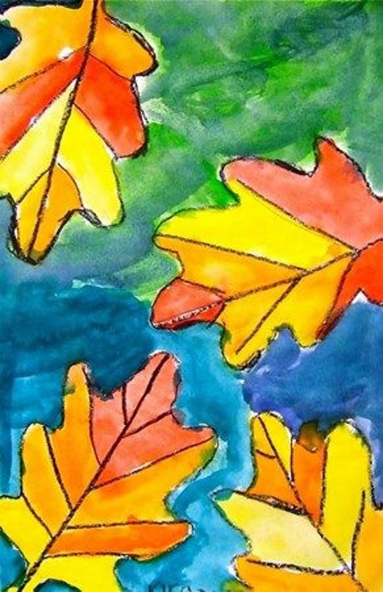 шаблоны листьев поделка рисунок