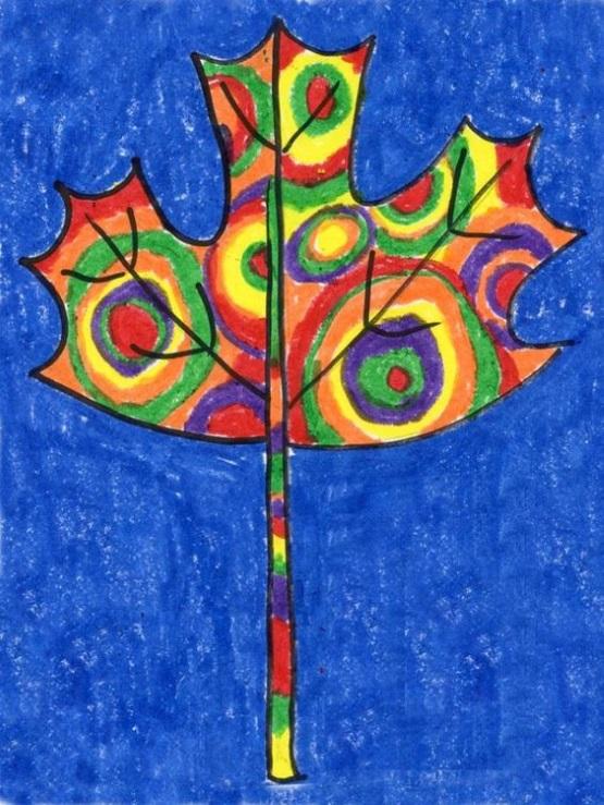 шаблоны листьев клена для рисования