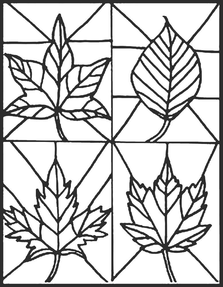 шаблоны листьев для рисования