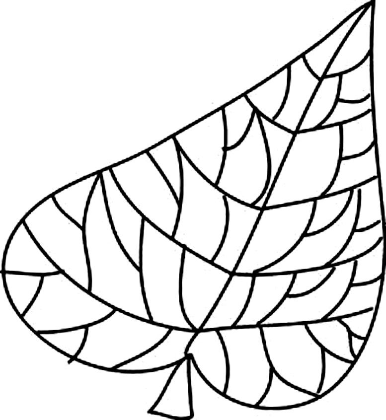 шаблоны осенних листьев для раскрашивания