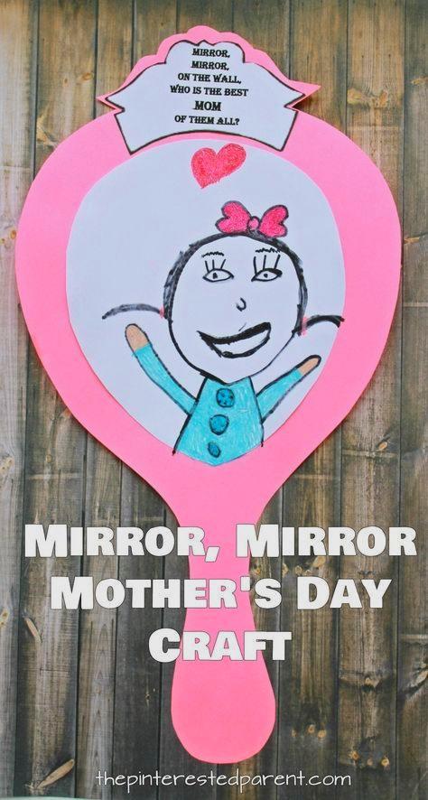 поделка для мамы зеркало