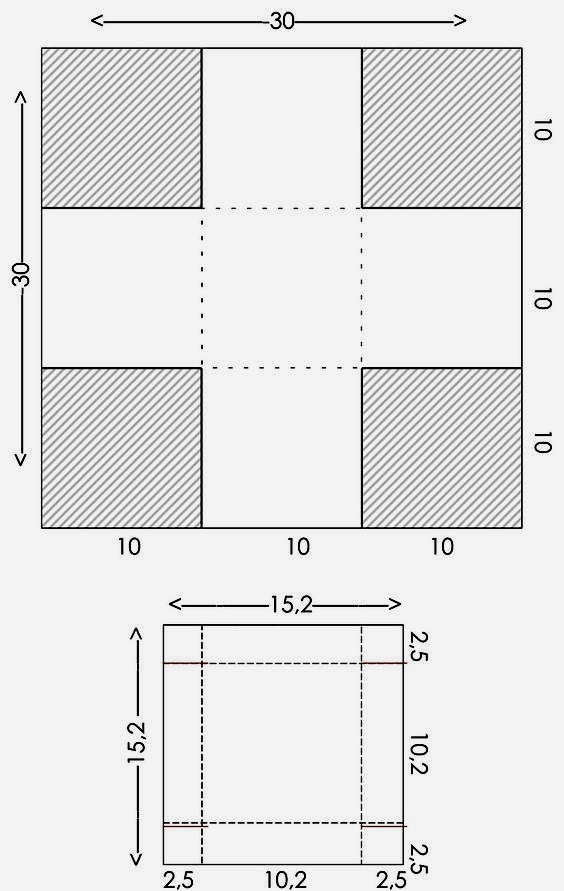 схема коробки поделка маме
