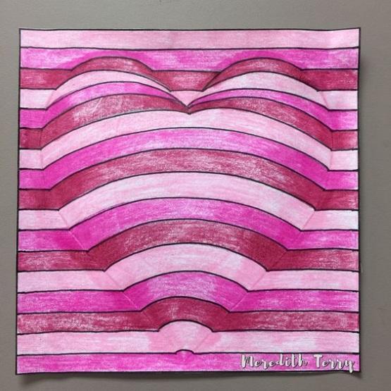 поделка рисунок сердце из бумаги