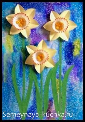 поделка для мамы цветы