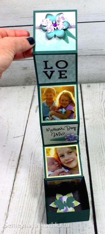 фото поделка для мамы открытка-раскладушка