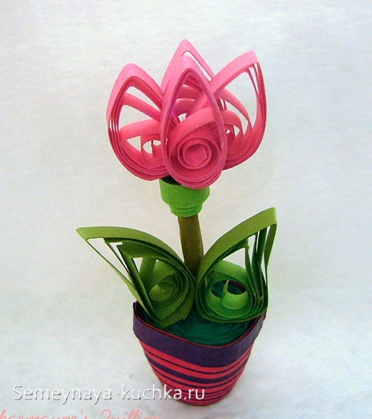 поделка цветок для мамы своими руками