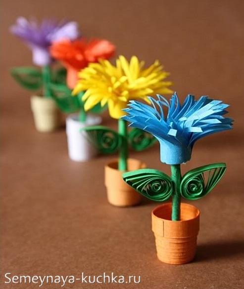 поделки для мамы своими руками цветы
