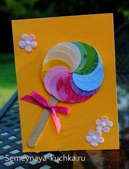 поделка конфета для мамы