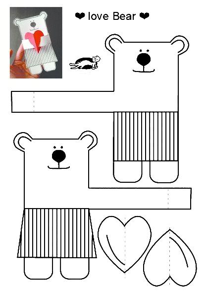 схема сборки поделка для мамы