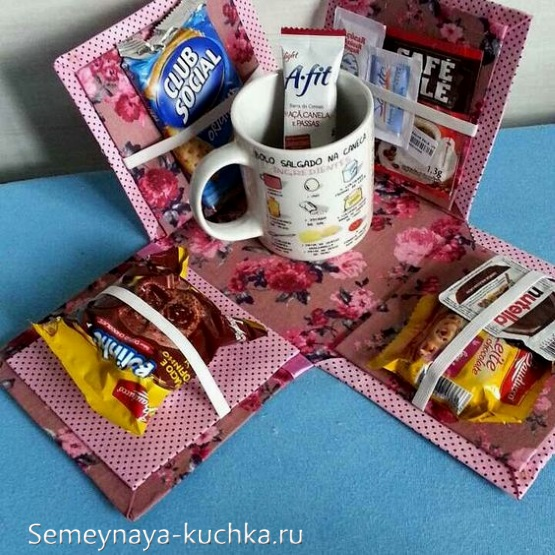 поделка для мамы коробочка с вкусным