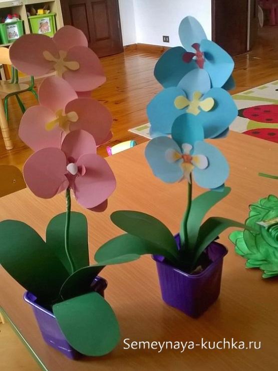поделка цветы орхидеи для мамы