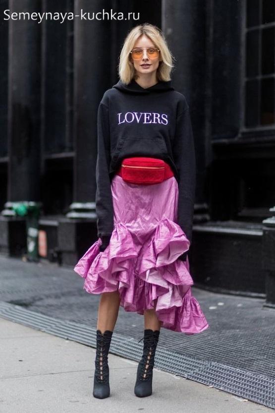 юбка годе как носить осенью спорт шик