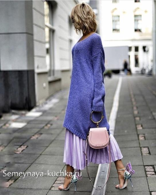 с чем носить юбку плиссе осень зима