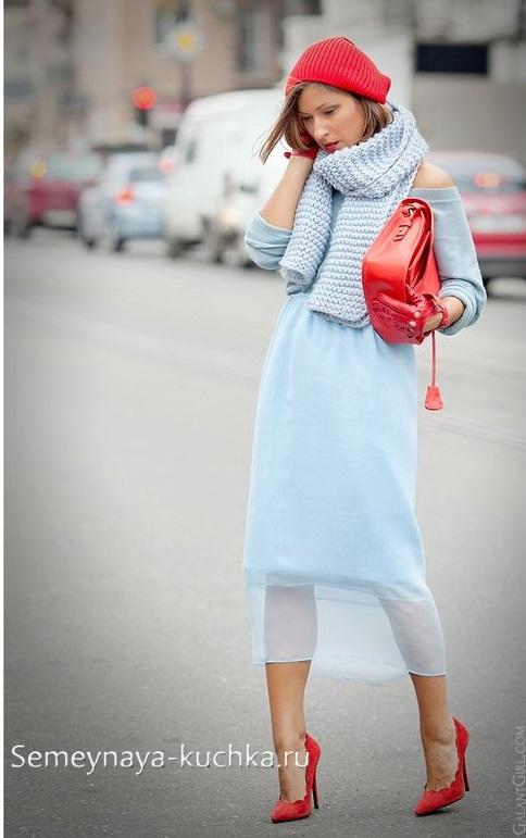 теплая юбка осенью с чем носить