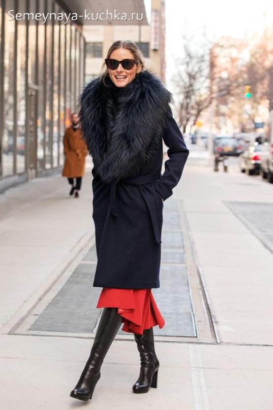 как носить юбку зимой осенью