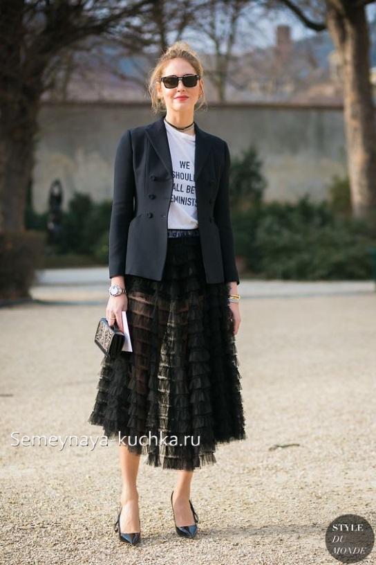 юбка черная с пиджаком