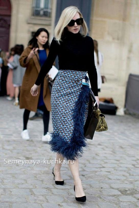 теплая юбка с чем носить осенью зимой