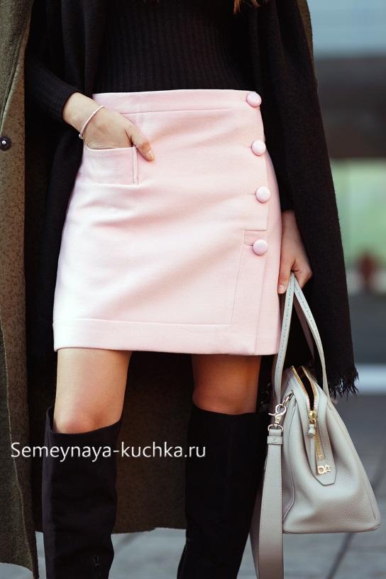 теплая юбка под сапоги с пальто